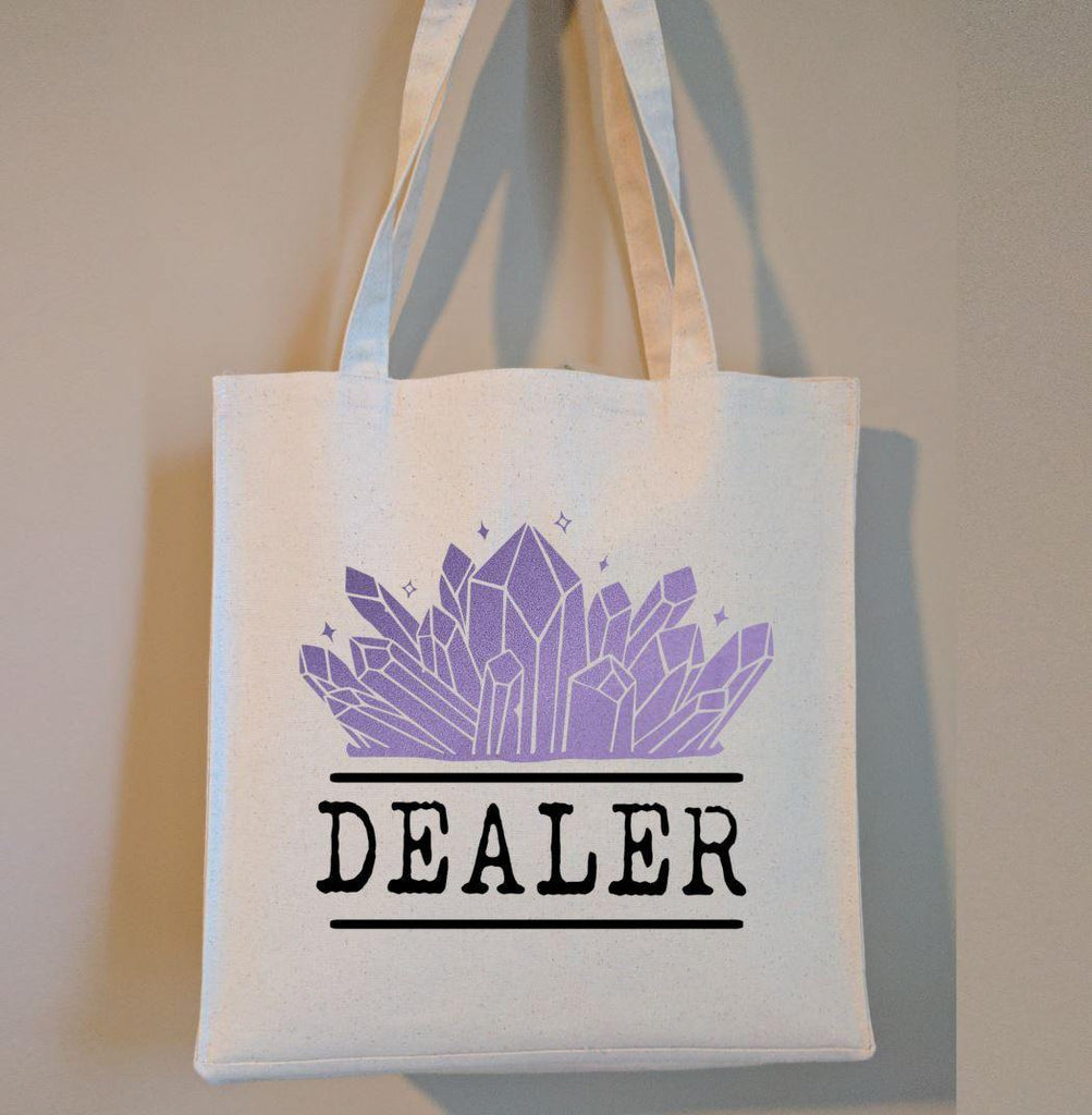 Crystal Dealer Cotton Canvas Market Tote Bag
