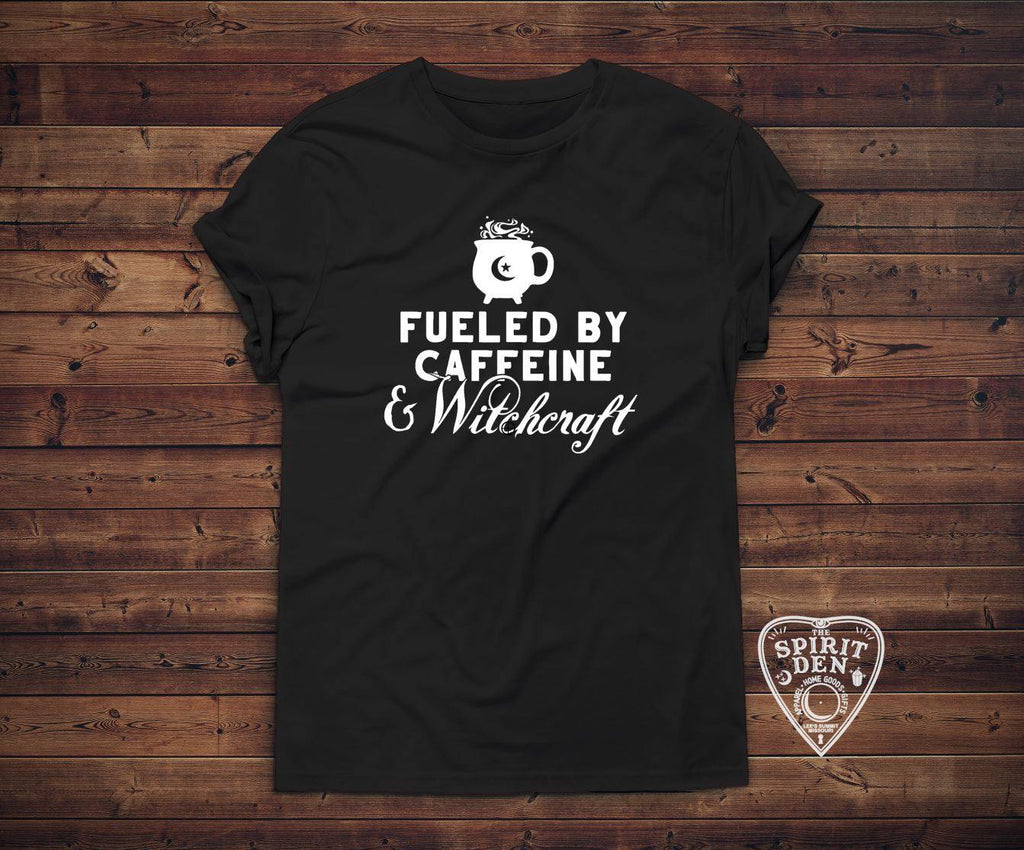 Fueled By Caffeine & Witchcraft T-Shirt Extended Sizes