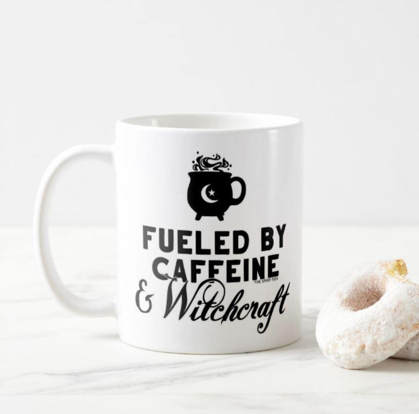 Fueled By Caffeine & Witchcraft White Mug