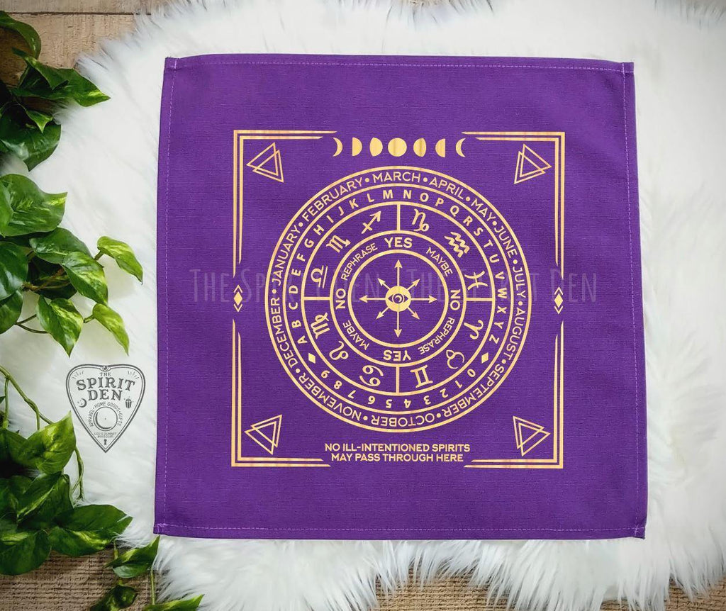 Pendulum | Divination Map | Purple Cloth (Gold Design)