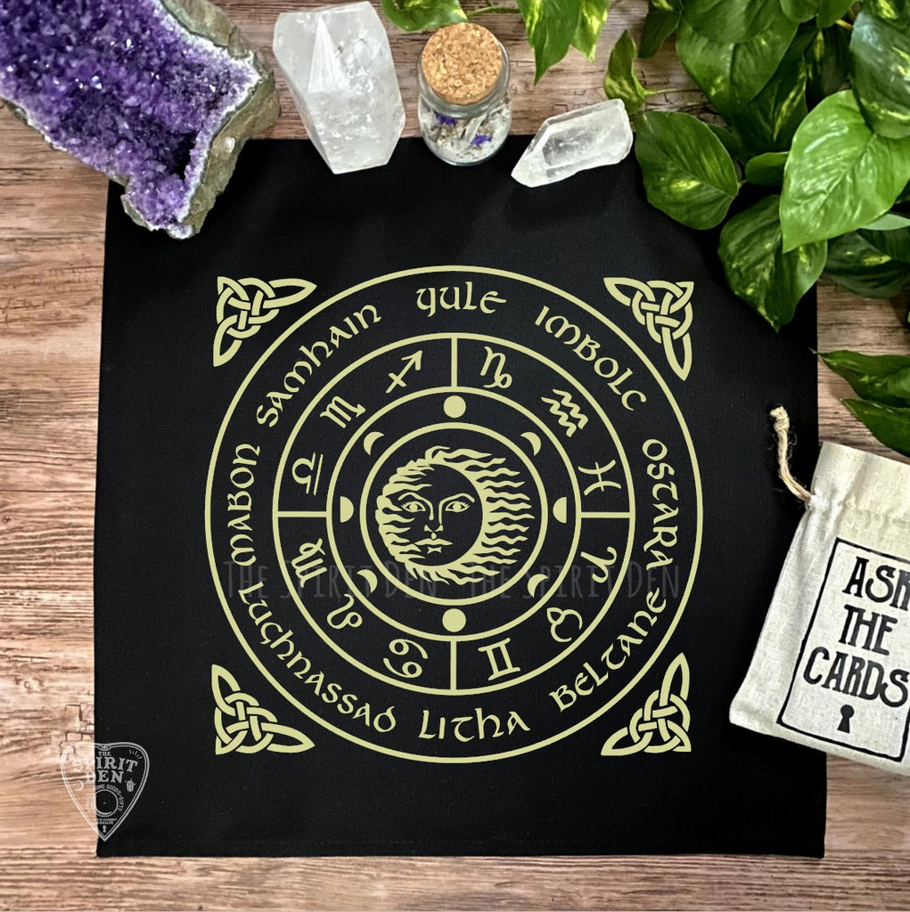 Wheel of the Year (Gold) Altar Cloth
