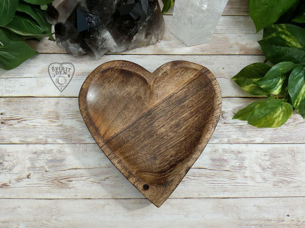 Hand Carved Wood Heart Bowl