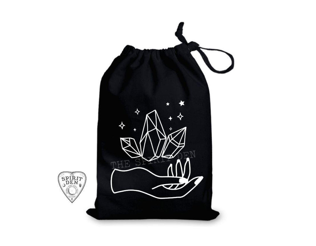 Holding Magic Crystal Black Single Drawstring Bag