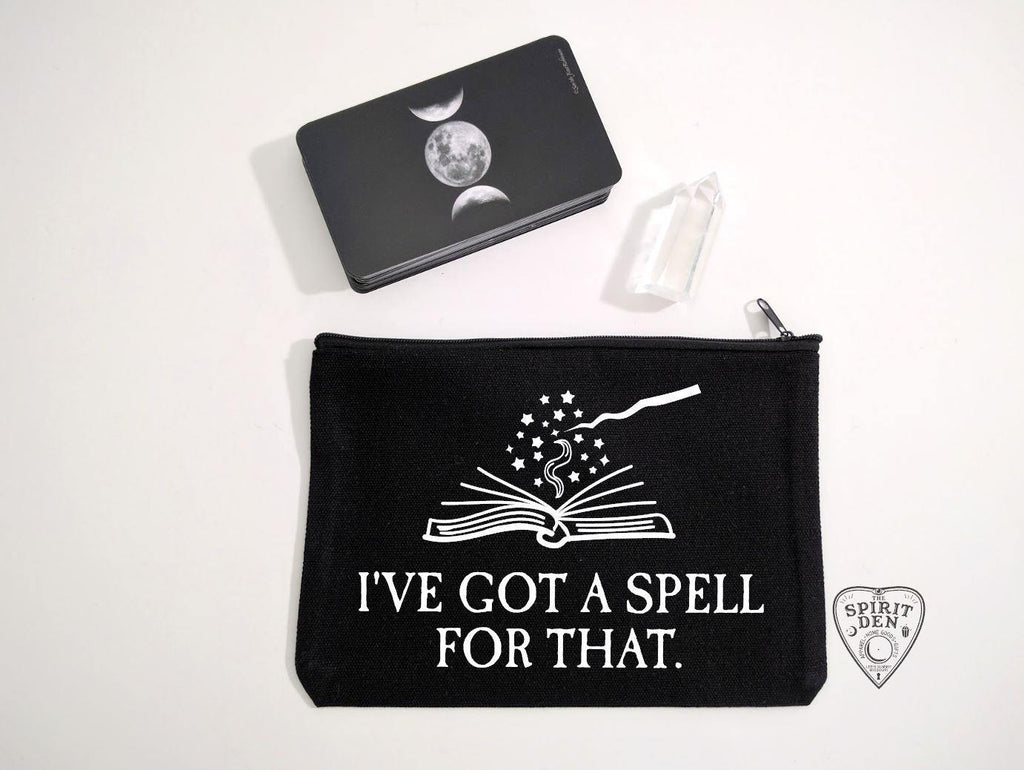 I've Got A Spell For That Black Canvas Zipper Bag