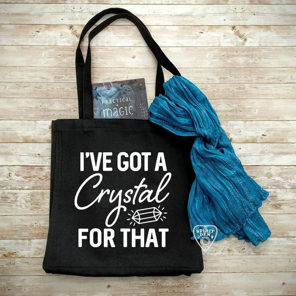 I've Got A Crystal For That Black Cotton Canvas Market Tote Bag