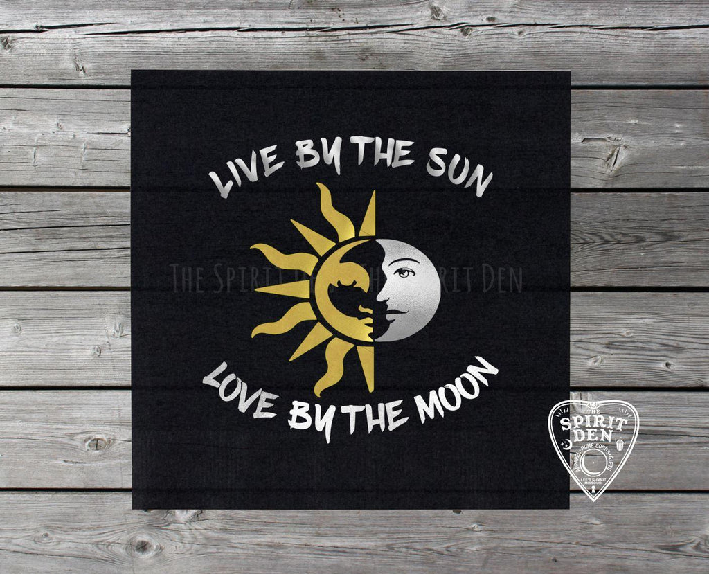 Live By The Sun Love By The Moon Altar Cloth - The Spirit Den