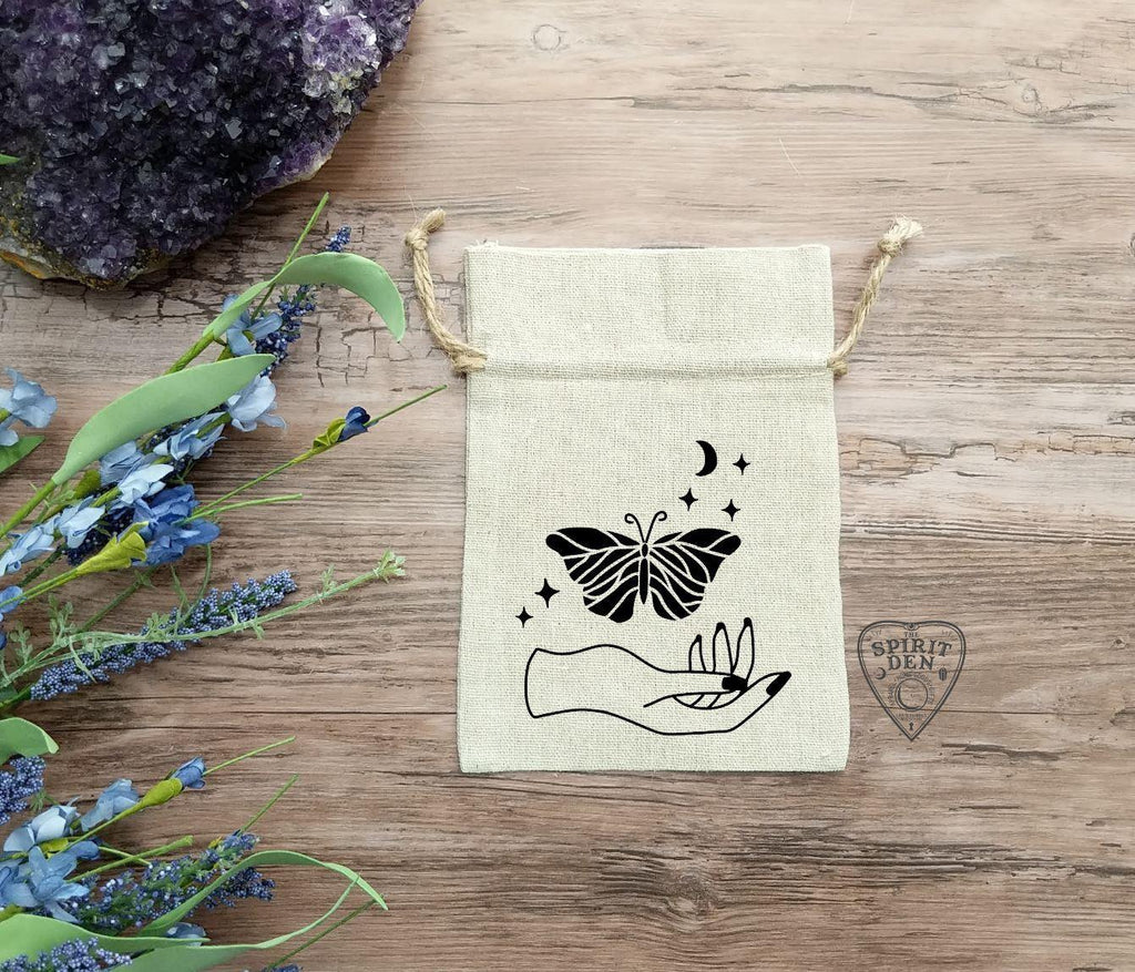 Luna Spirit Cotton Linen Drawstring Bag