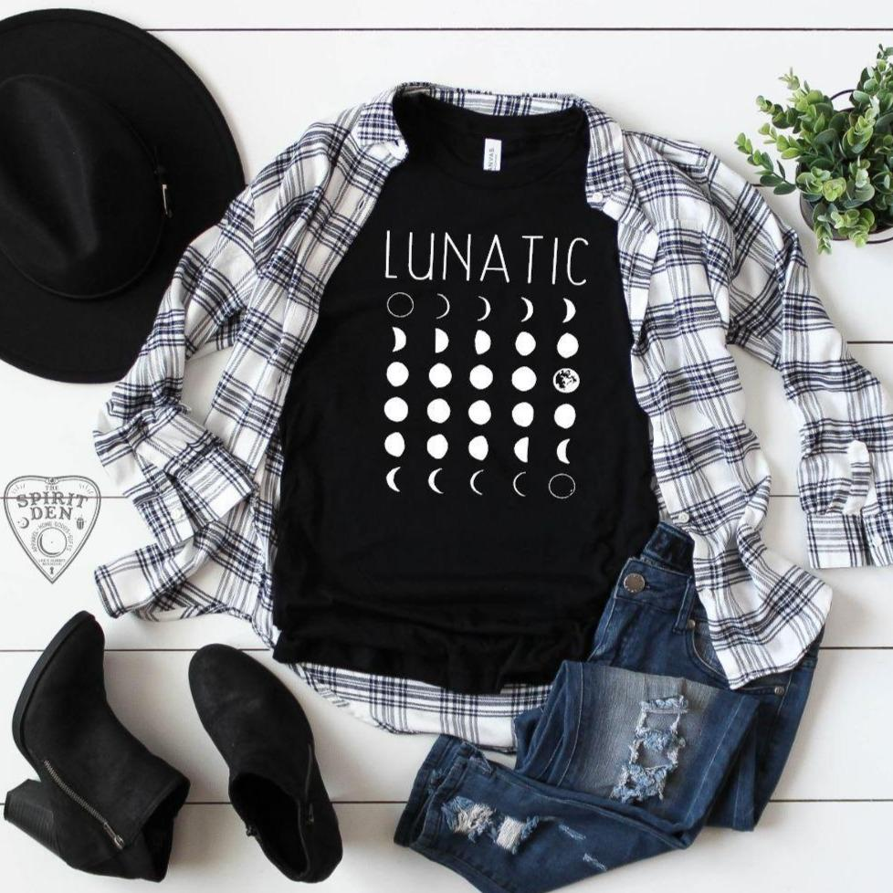 Lunatic  Moon Phases T-Shirt