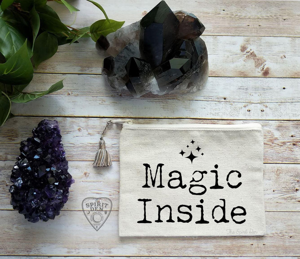 Magic Inside Canvas Zipper Bag