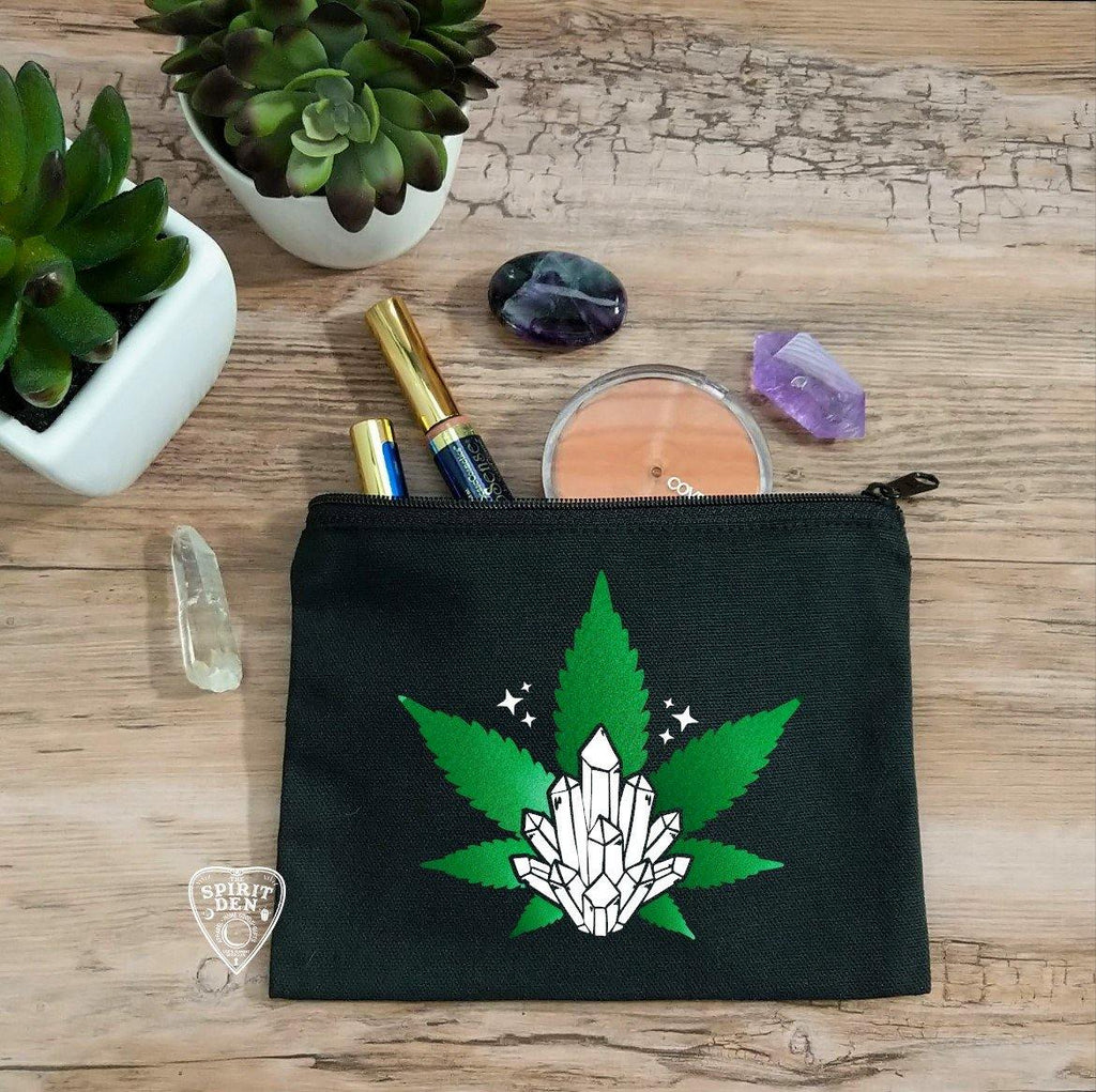 Crystal Haze Black Zipper Bag