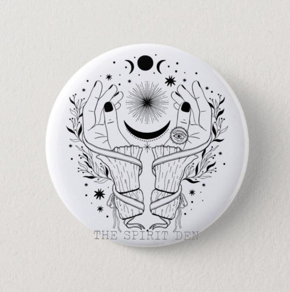 Moon Mystic Magic Pinback Button