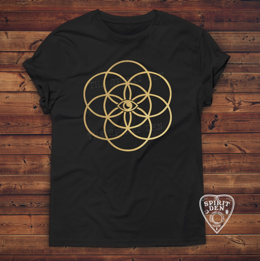 Mystic Seed Of Life Design T-Shirt