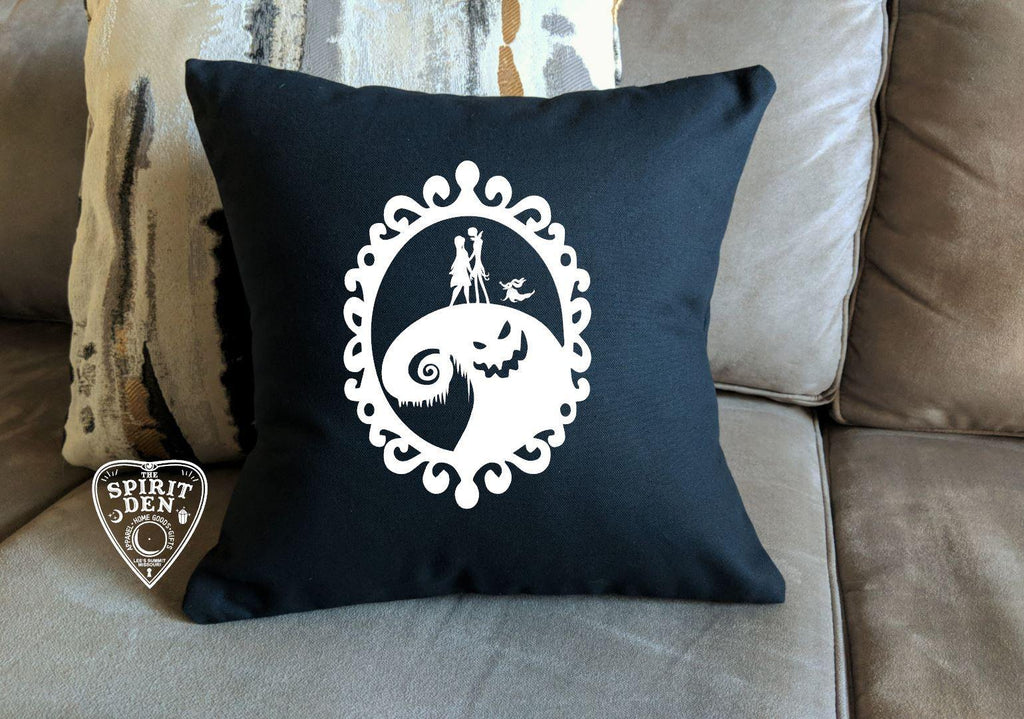 Nightmare Before Christmas Oogie Boogie Black Cotton Pillow