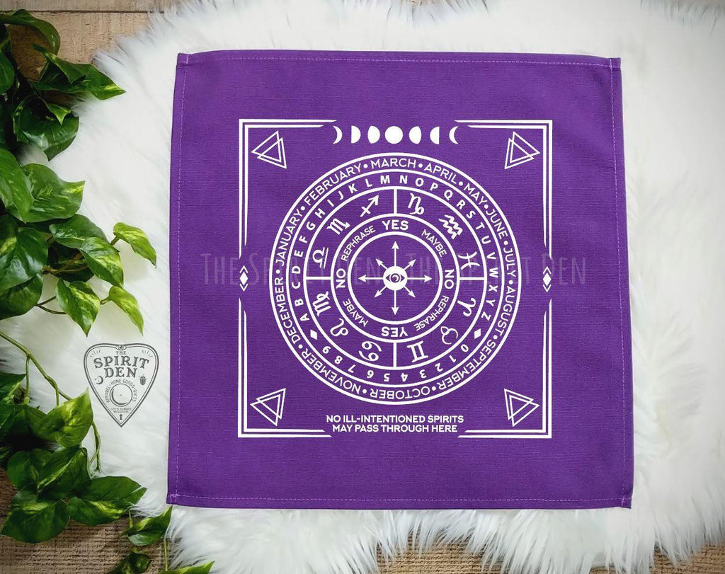 Pendulum | Divination Map | Purple Cloth (White Design)