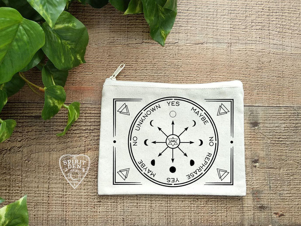 Pendulum Chart Natural Zipper Bag