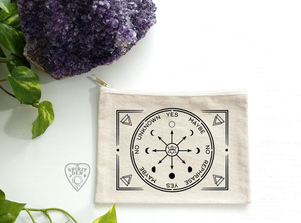 Pendulum Chart Natural Zipper Bag - The Spirit Den