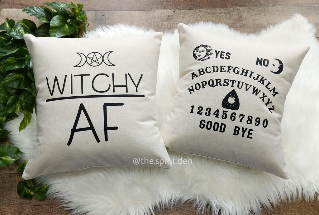Spirit Board Cotton Canvas Pillow