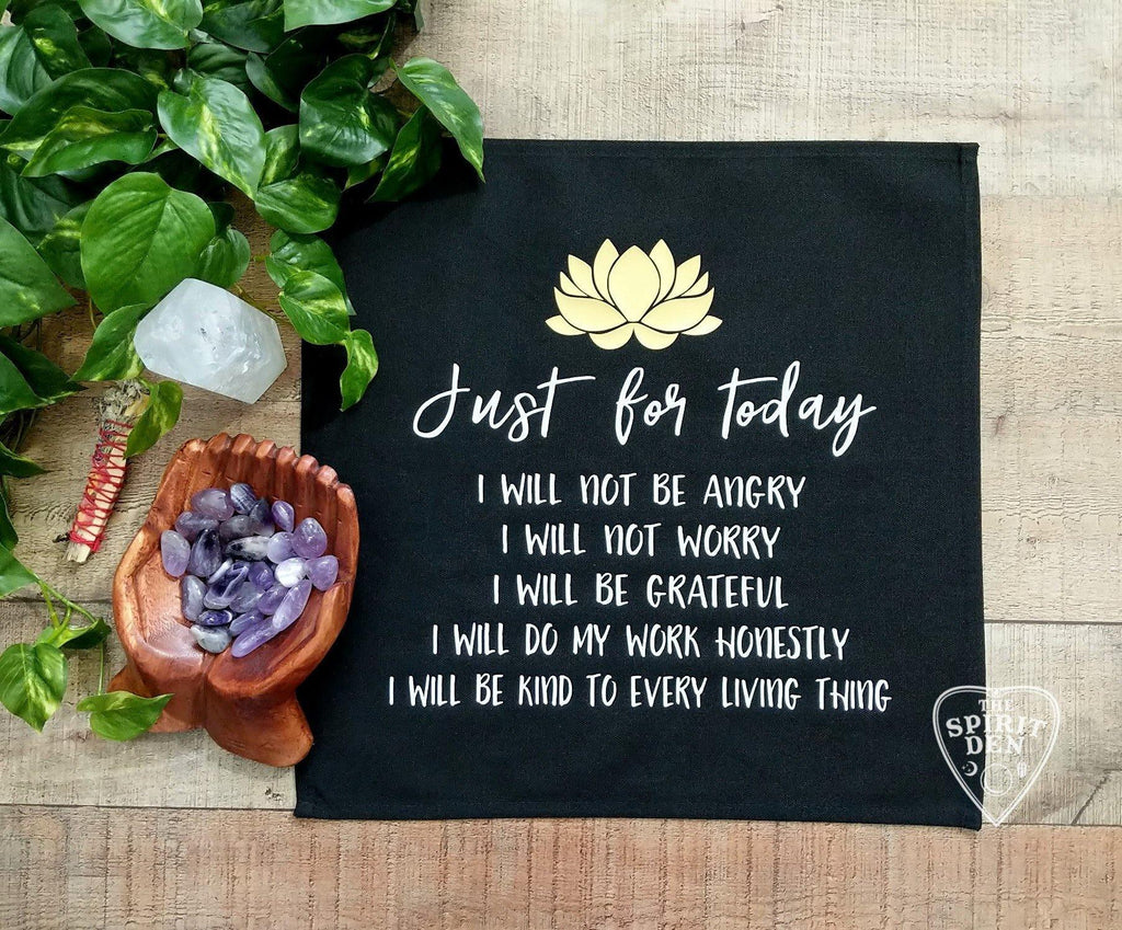 Reiki Principles Altar Cloth | Reiki Cloth - The Spirit Den