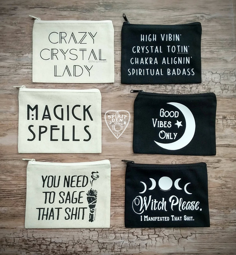 Witch Please I Manifested that Black Canvas Zipper Bag
