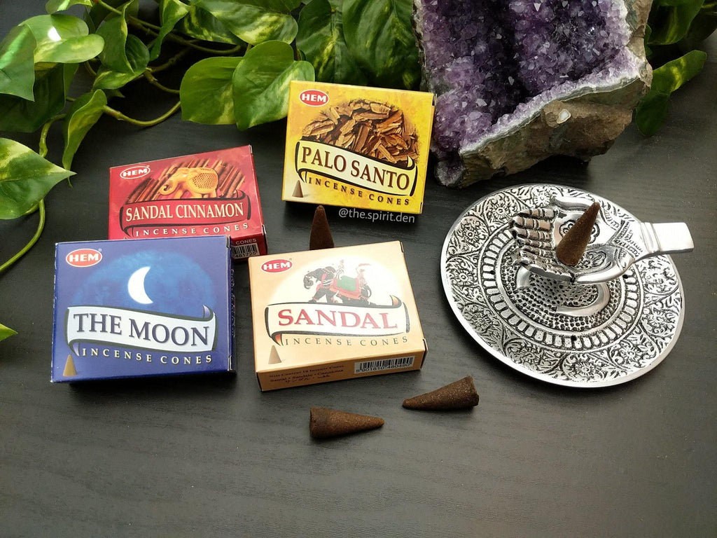 Hem Cone Incense | Sandalwood, Sandal Cinnamon, Palo Santo or The Moon