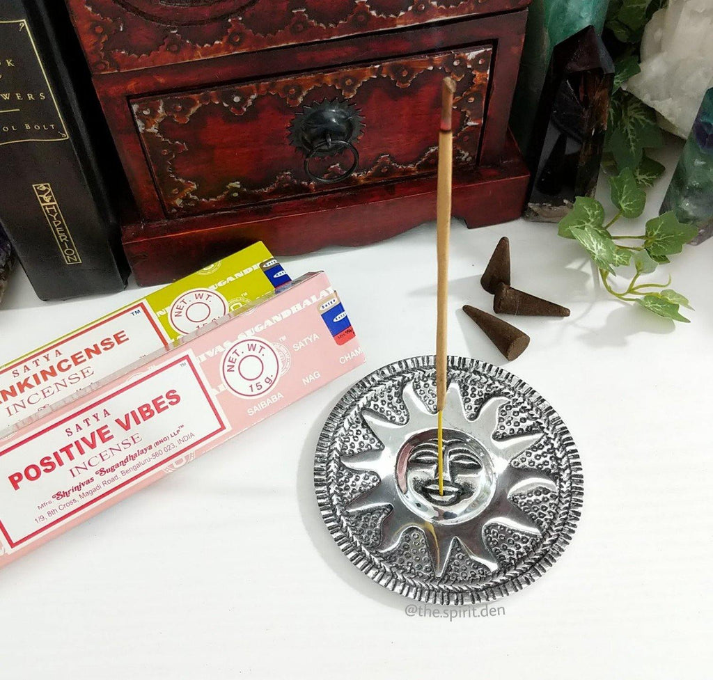 Sun Incense Burner for Incense Cones or Sticks