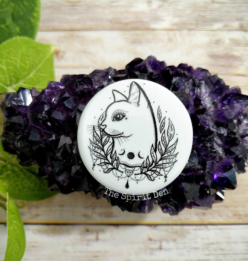 Lady Luna Kitty Pinback Button