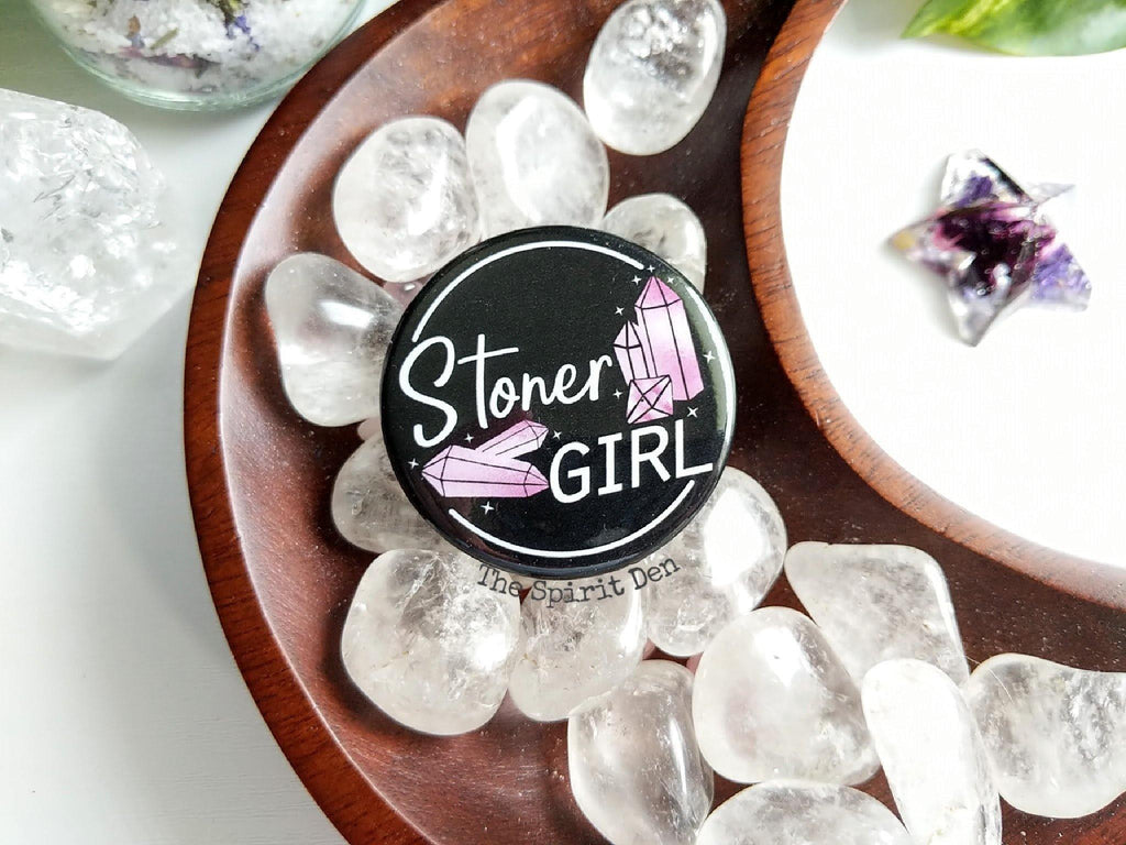 Stoner Girl Pinback Button