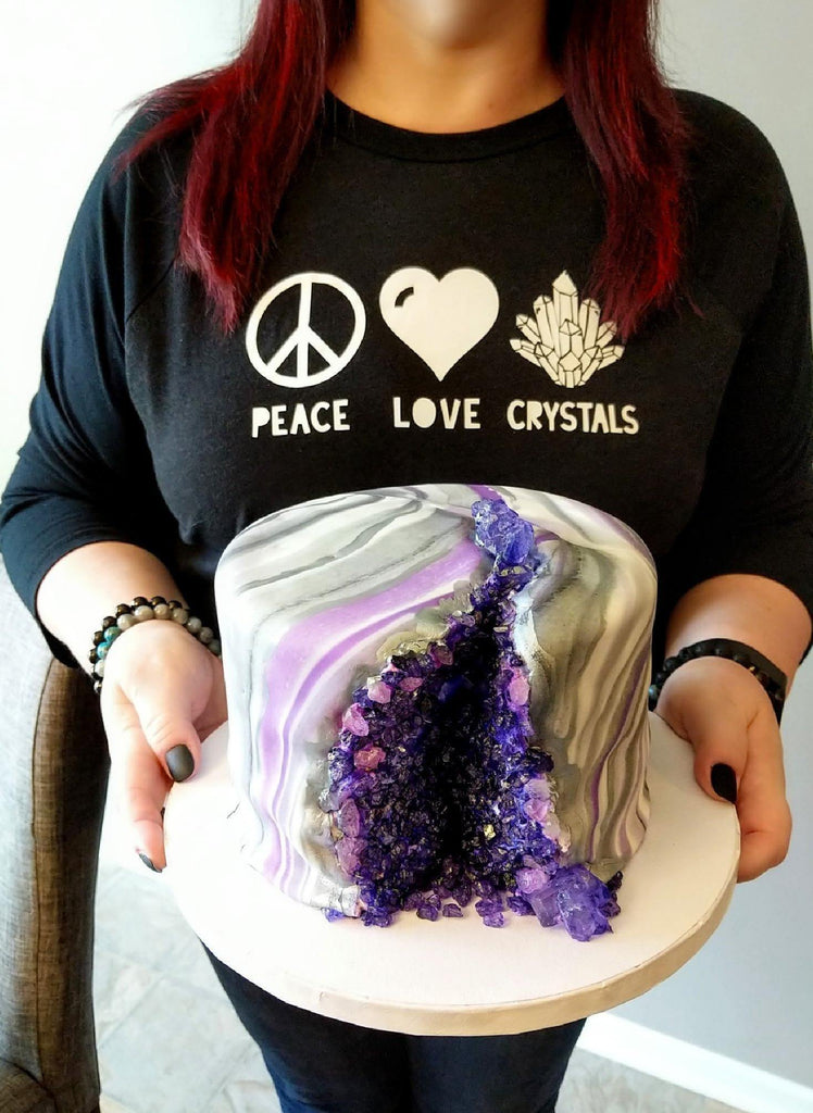Peace Love Crystals T-Shirt