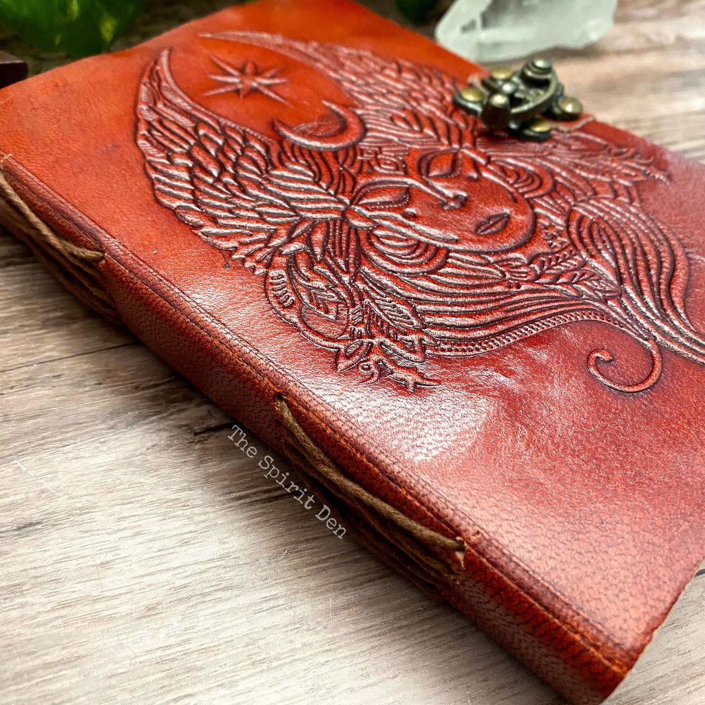 Goddess of the Moon Leather Journal