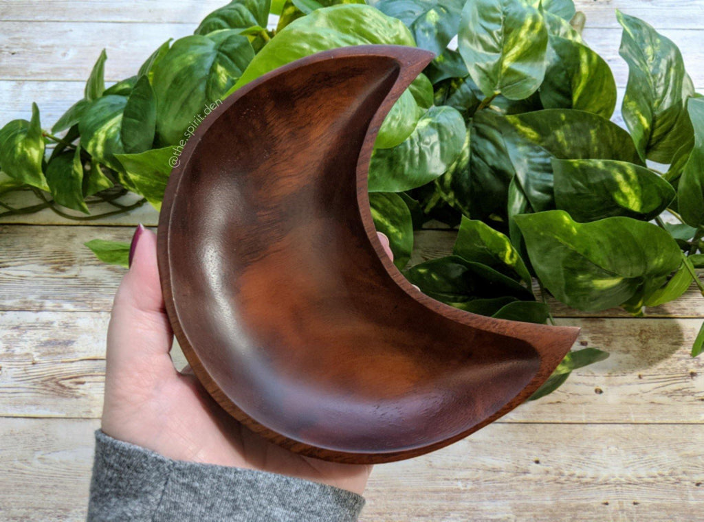Crescent Moon Wood Bowl