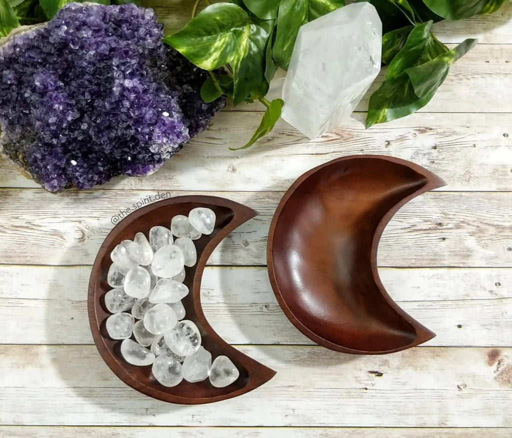 Wood Moon Bowl | Solid Brown Finish