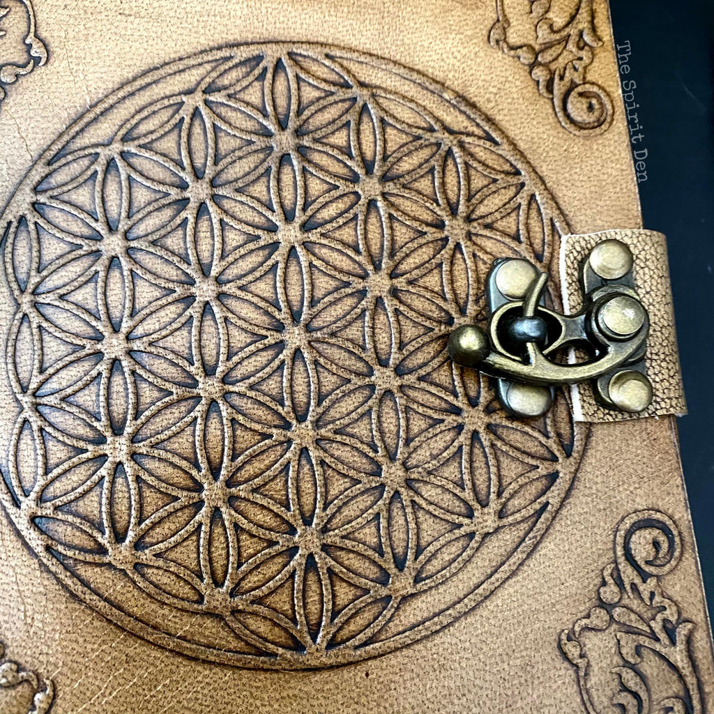 Flower Of Life Leather Journal