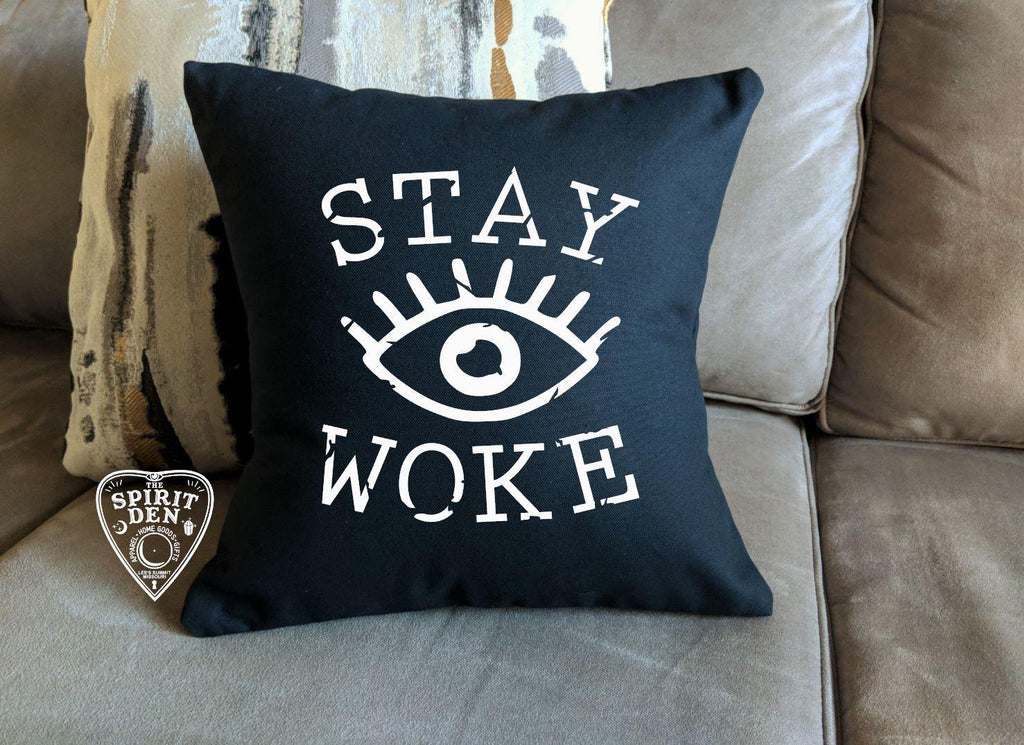 Stay Woke Third Eye Black Pillow