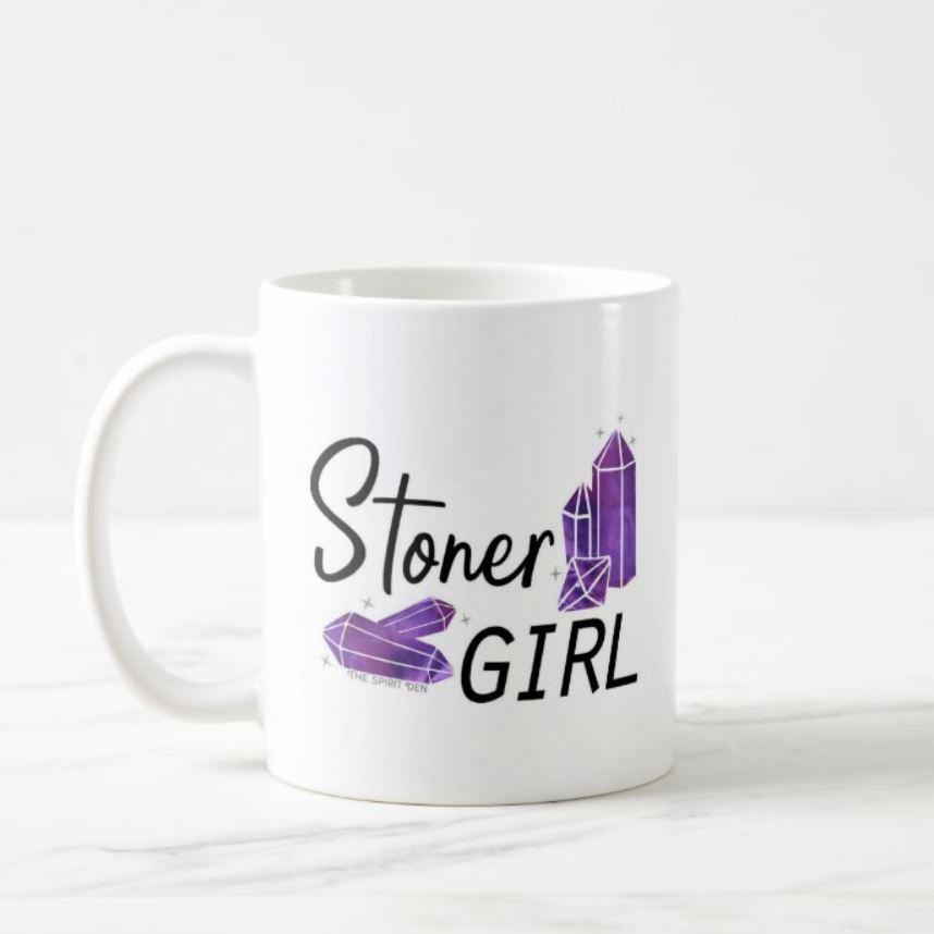 Stoner Girl Crystals White Mug