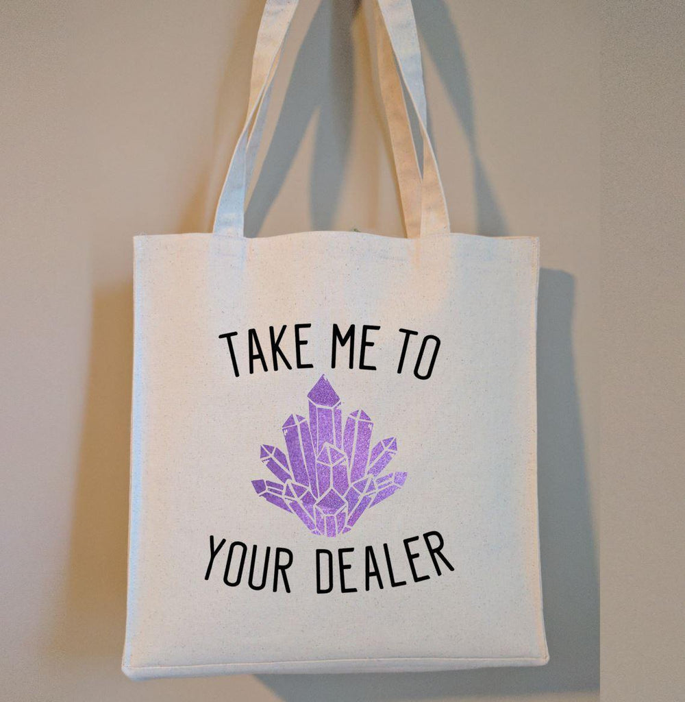 Crystal - Take Me To Your Dealer Canvas Market Tote Bag