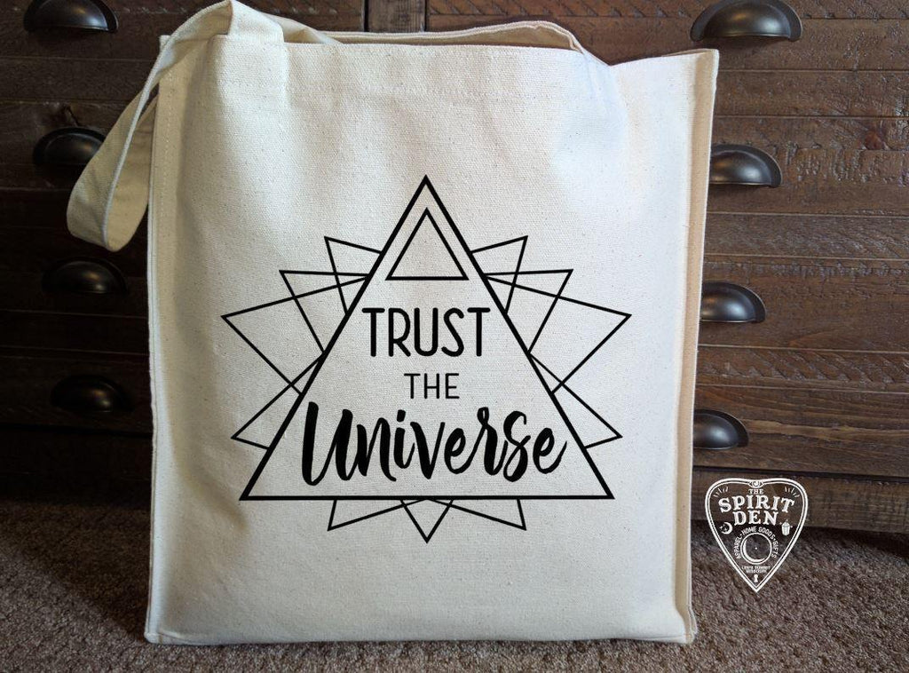 Trust The Universe Cotton Canvas Market Bag - The Spirit Den