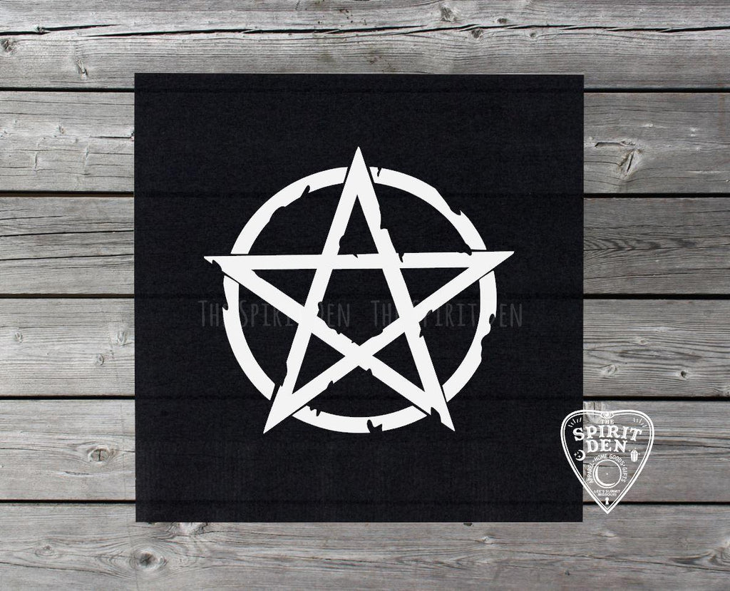 White Pentacle Altar/Tarot Cloth - The Spirit Den