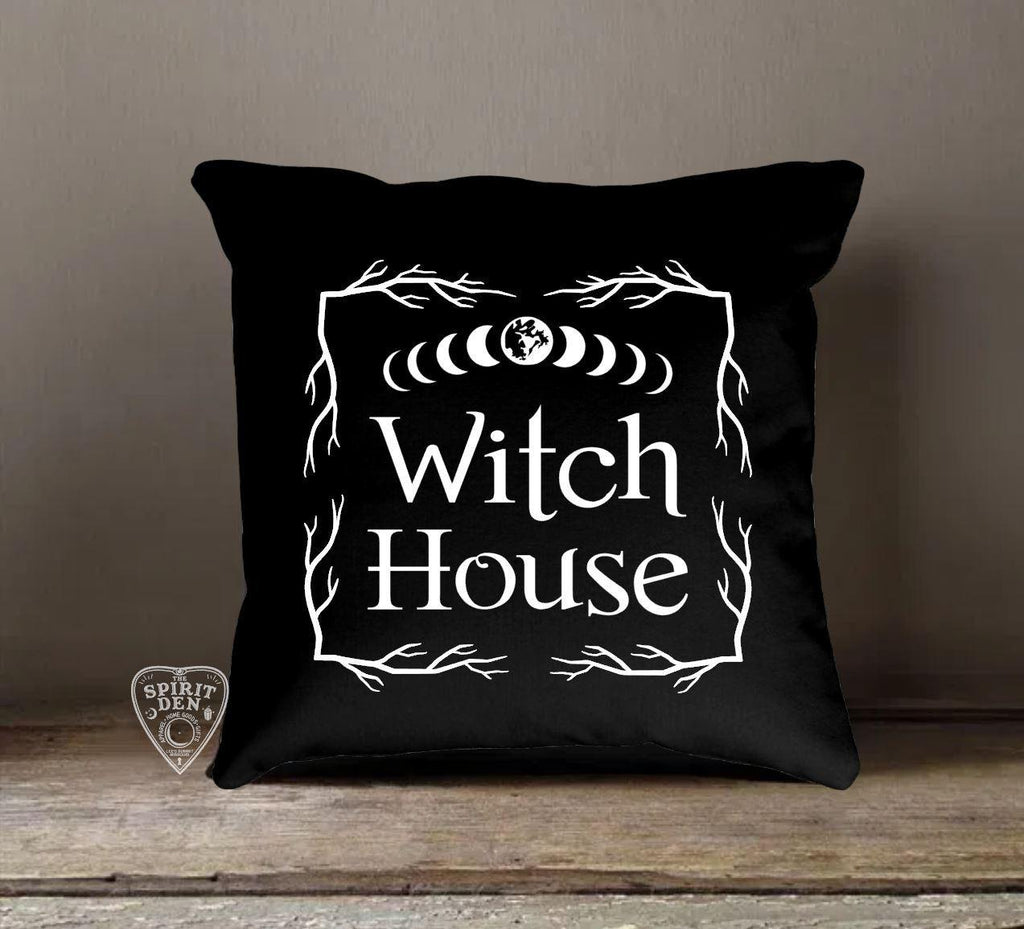 Witch House Black Pillow | Pillow Cover - The Spirit Den