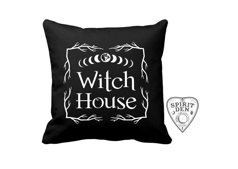 Witch House Black Pillow | Pillow Cover