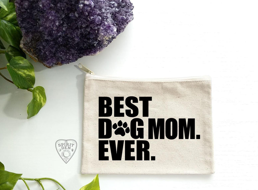 Best Dog Mom Ever Canvas Zipper Bag