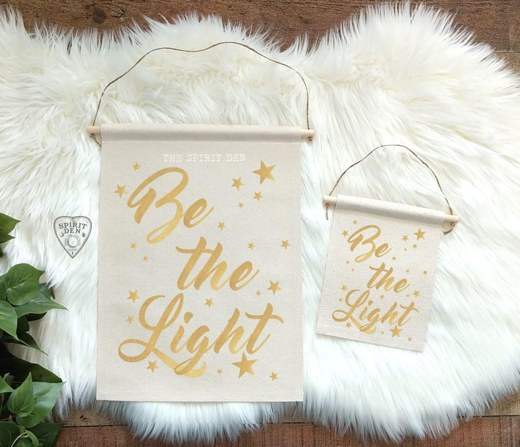 Be the Light Cotton Canvas Wall Banner Wall Decor