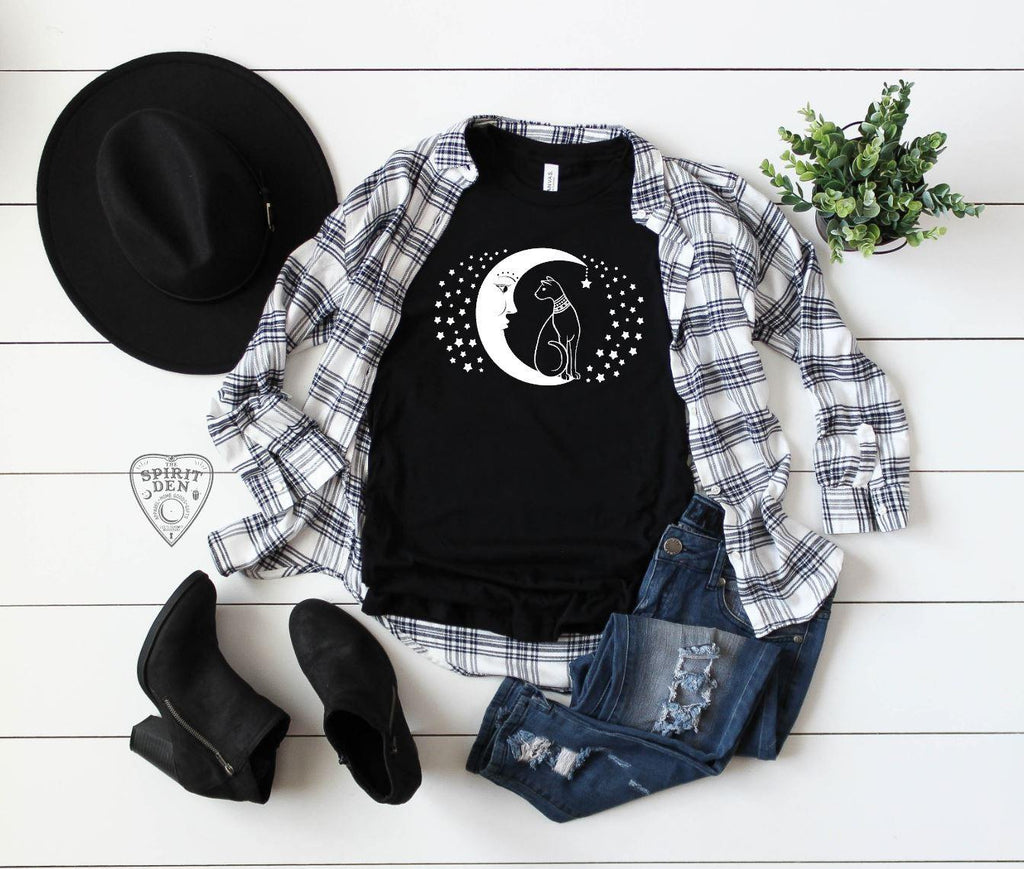 Cat And The Moon T-Shirt