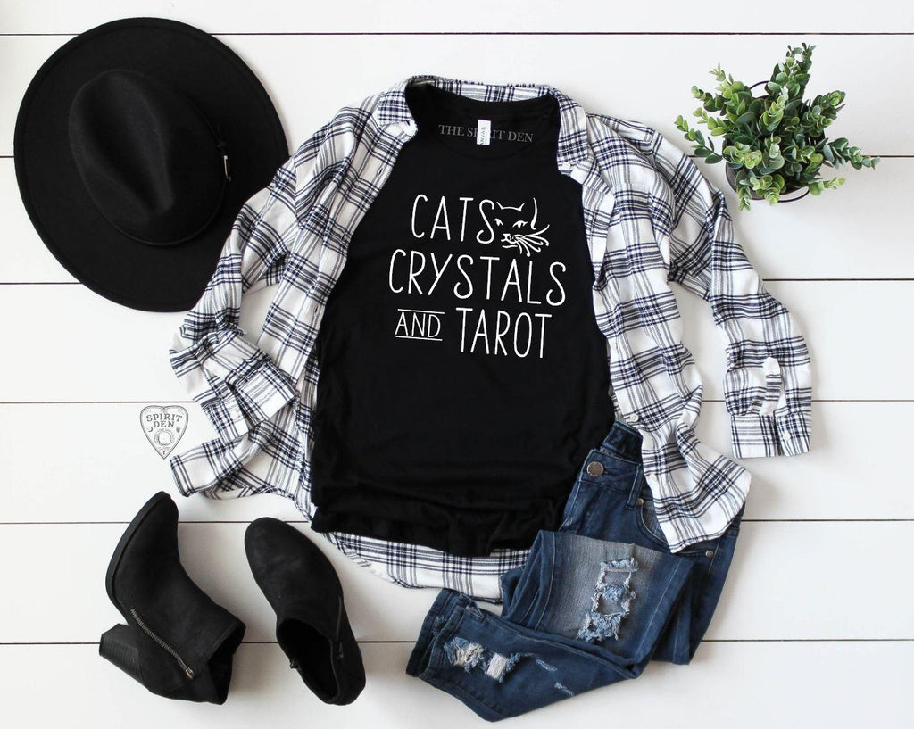 Cats Crystals and Tarot T-Shirt