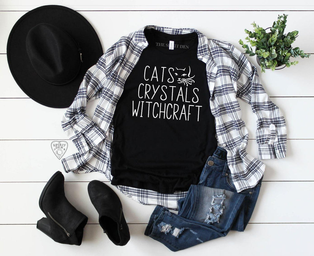 Cats Crystals Witchcraft T-Shirt