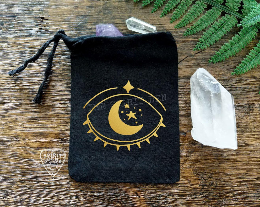 Celestial Vision Black Single Drawstring Bag
