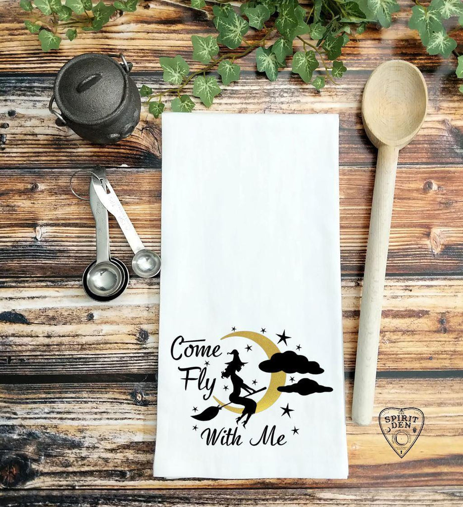 Come Fly With Me Witch Flour Sack Towel - The Spirit Den