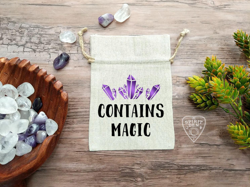 Contains Magic Cotton Linen Drawstring Bag