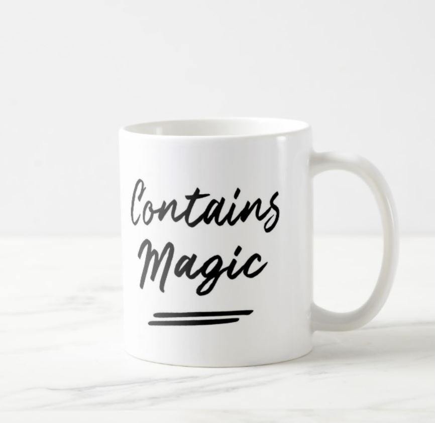 Contains Magic White Mug