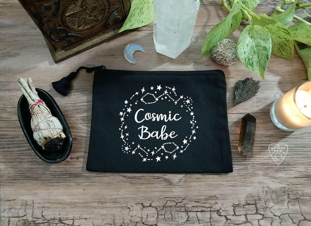 Cosmic Babe Black Zipper Bag