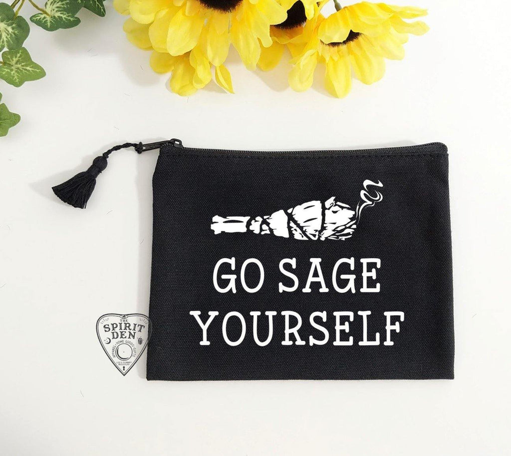Go Sage Yourself Sage Bundle Black Zipper Bag